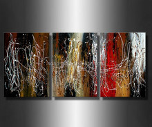100% handmade geometrical abstract painting