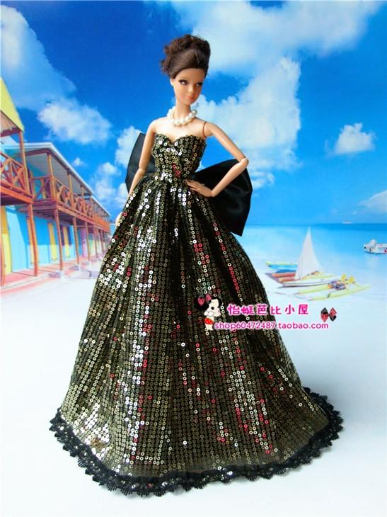Free Transport New Arrival Doll Equipment Wedding ceremony Costume Celebration Garments White Skirt for Barbie Doll