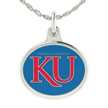 Hot Item Kansas Jayhawks Charm Necklace 925 Silver Jewelry Wholesale