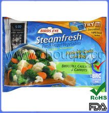High quality food grade fresh vegetable packaging pouches