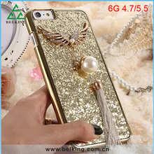 Pearl Pendant Case For iPhone 6 Plastic Mobile Accessory Phone Glitter Bling Diamond Case
