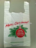 hot selling t-shirt style shopping platic bag christmas gift bag