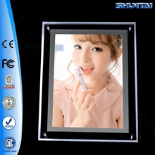 Single sided slim illuminated acrylic led lighting picture frame