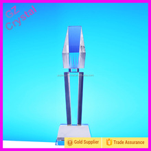 Customised Shape Blank Glass Trophy With Base For Souvenirs