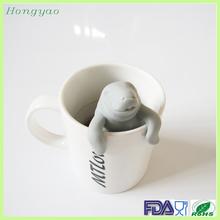 Amazon Hot! Sea lion silicone tea infuser, Hot tea infuser silicone