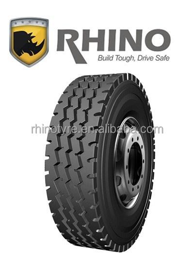 Neumático radial / tbr / neumáticos de camión / stock neumático marca RHINO alta calidad