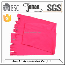 Colorful custom brand promotion polyester polar fleece scarf