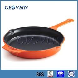 Non-stick enamel cast iron kitchen art pan