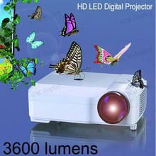 HOT SALE! HD Projector For Home theater Support 1080p full HD VGA USB LED commercial theater projector for sale