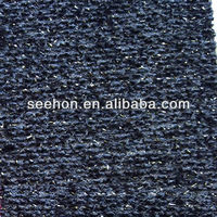 black gold silver thread knit fabic for sweater