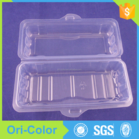 Disposable Plastic Clamshell Hot Dog Packaging Food tray