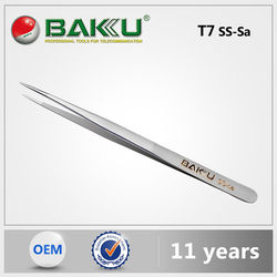 BK T7 7-SA BaKu Anti-Magnetic Anti-Acid Not-Corrosive Precision Widely Useful Tweezers Stainless Pointed Tip Tweezers