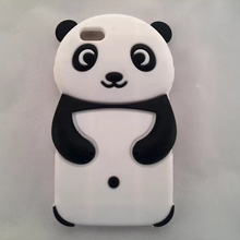 For iPhone 6 Cute Panda Bear Silicone Rubber Soft Case