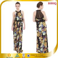 2015 Digital Printing Halter Sexy Elegant Evening Dress In Good Quality
