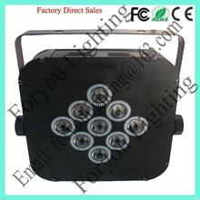 9*3w rgb 3 in 1 leds best quality best selling 9*3w 3in1 led flat par