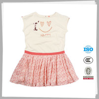 High quality Fashion Lovely one piece cotton dress designs for young girls