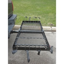Hitch Mounted Cargo Carrier with bike rack