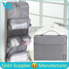 Hot Sale Travel Hanging Toiletry Bag Foldable Toiletry Bag With Detachable Mesh Compartments