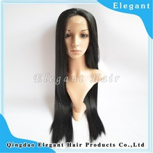 Wholesale natural color long hair lace front wig100% Kanekalon synthetic hair wigs