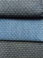 veritable wax indigo cotton jacquard denim fabric for summer denim jean