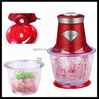 Food mixer processor/glass mini meat chopper, electric onion chopper for salad pisa
