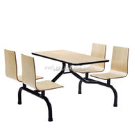 cheap high quality 4 seat wood dining table cafe table and chair set