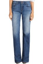 Ladies fashion boot cut straight leg denim jeans /women flare leg jeans/womens sexy wide bottom jeans