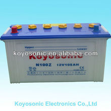 Car Start dry cell battery high quality 12V 105AH JIS Standard Dry charged car battery