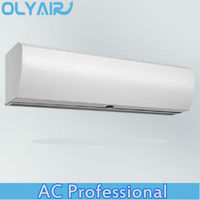 OlyAir plastic grille cross residential pvc Air Curtain price from 90-150cm length remote control with install hight three meter