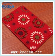 100%polyester latex anti-slip printed bath mat