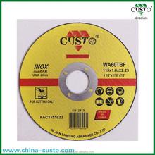 115mm Ultra Thin Fiber Reinforced Resin Bond Cutting Disc EN12413