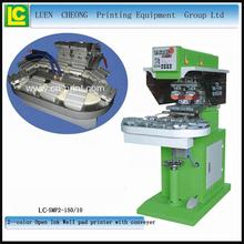 High quality electronic products 2-color pad printing machine for watch dials pad printing with conveyor for LC-SPM2-150/10