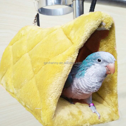 L Size Warm Canary Hut Nest Parrot Bird Hamster Hammock Hanging Cave Cage Plush Tent Bed Bunk Parrot With Buckles