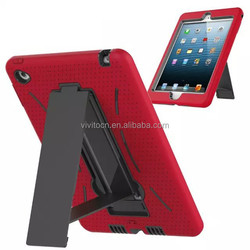 Hybrid PC+ TPU protective hard case cover with stand for ipad mini 4