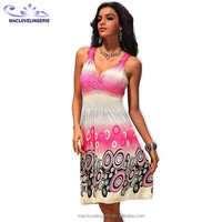 Free Shipping USA 8 pieces Wholesale Pink Summer Fashion Casual Dresses