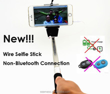 2015 Universal Cable Control Selfie Stick Nick Packing Monopod