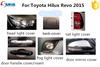 For NEW TOYOTA HILUX VIGO/ REVO 2015 full chromed kits with mirror cover chrome trim deflector exterior accessories