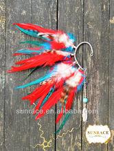 clip colorido pluma en arada