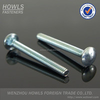 DIN603 carbon steel square neck mushroom head carriage bolt (M5-M20)