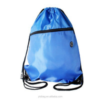 drawstring backpack with earphone outlet