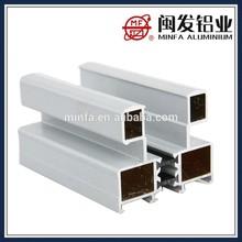 yüksek kaliteli plastik kaplama beyaz alüminyum profiller sürgülü kapı