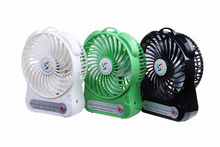 Battery Powered battery decorative usb mini fans with LED light