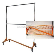 Folding Metal Toy Display Shelf Rack with 7 Wire Shelves