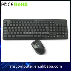 Hign efficiency easy operating guangzhou factory wireless keyboard and mouse