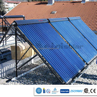 factory produce pressure solar collector for both slope roof and flat roof, efficient solar water heater use