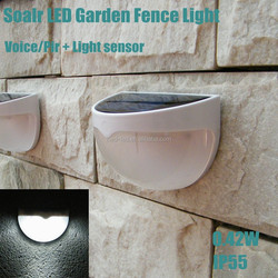 New 0.42w outdoor pir sensor solar powered led beacon