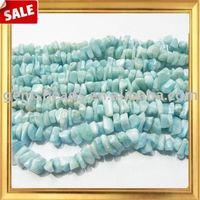 Wholesale natural gemstone larimar chips beads