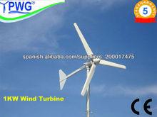 1KW turbina de viento para uso doméstico