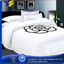 hot sale new design embroidery white bedding sheet for middle east