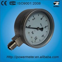 YE 63mm 2.5 inch back connection -2 to 8 kpa bellows gas lpg pressure gauge regulator measuring instrument